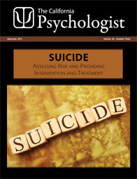 Cover of the California Psychologist magazine